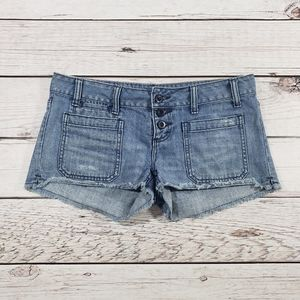 American eagle size 4 blue cut off jean shorts